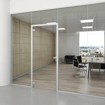 Parete divisoria vetrata idrawall centrufficio - Parete divisoria in vetro ...