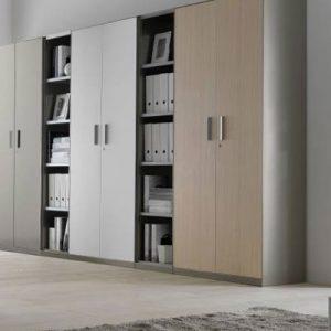 metallic cabinets