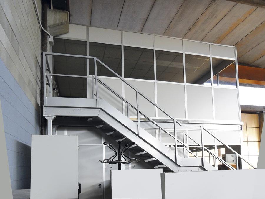 Plafoniera Ufficio Prezzo : Box uffici per capannoni e magazzini centrufficio