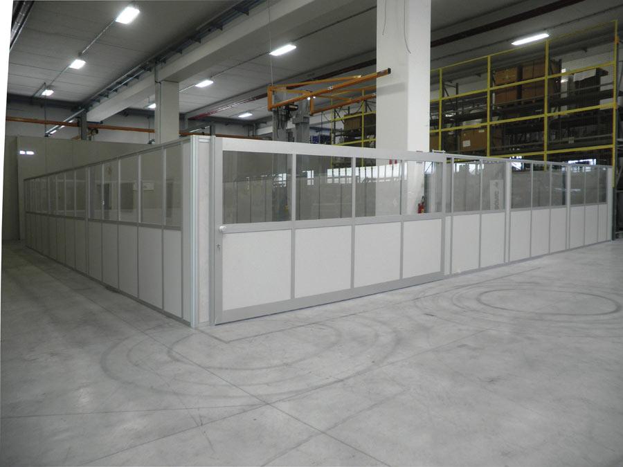 Gabbiotto Per Ufficio : Box uffici per capannoni e magazzini centrufficio