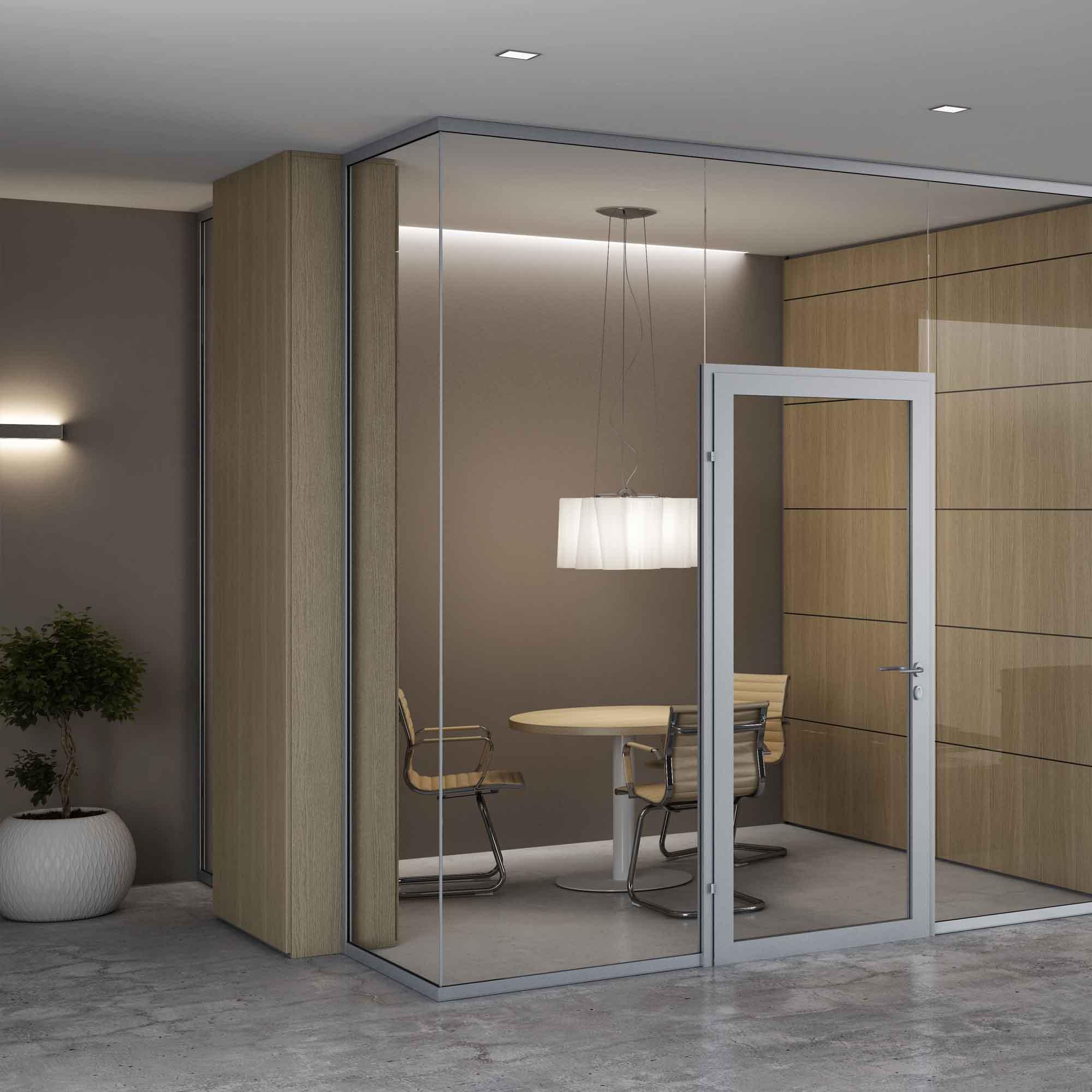 Parete divisoria vetrata aquarius centrufficio for Ikea parete divisoria